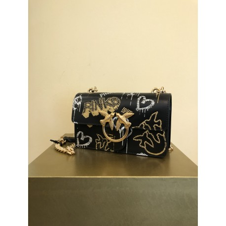 MINI LOVE BAG ICON STREET ART CON BORCHIE PINKO