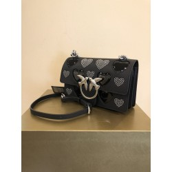 MINI LOVE BAG ICON STUDDED HEART IN PELLE PINKO