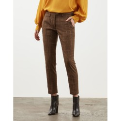 Pantalone slim Perfect in pied de poule DONDUP